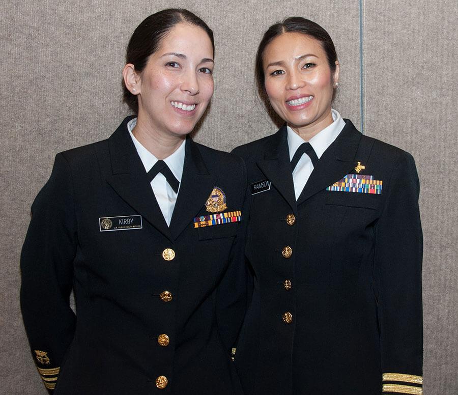 Smiling service members